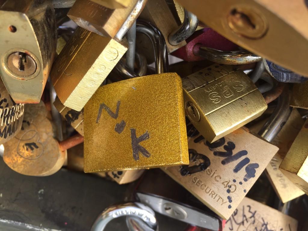 Paris Love Locks Bridge