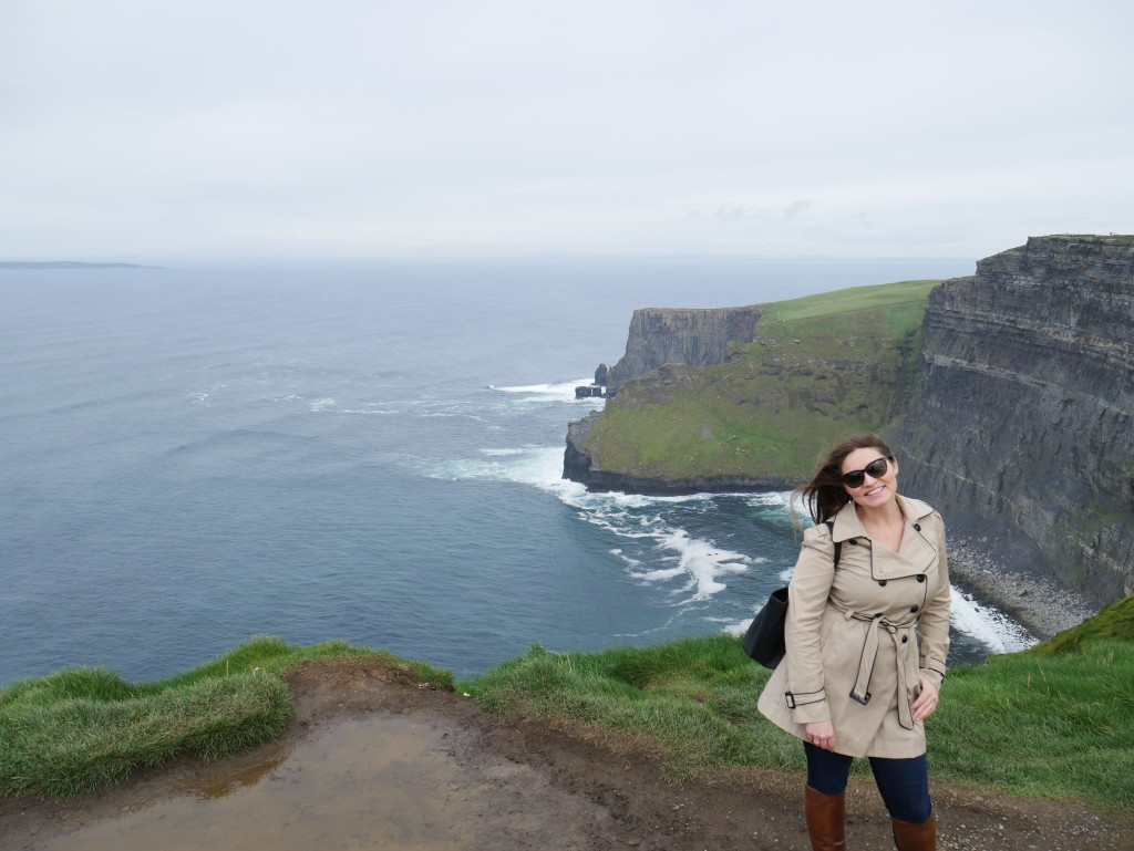 Katy at Cliffs of Moher